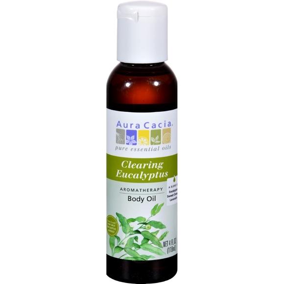 Picture of Aura Cacia Aromatherapy Bath Body and Massage Oil Eucalyptus Harvest - 4 fl oz