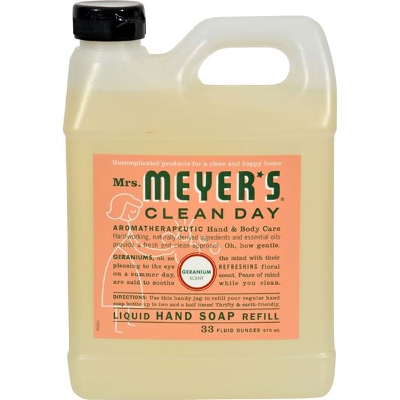 Picture of Case of 6- Mrs. Meyer's Liquid Hand Soap Refill - Geranium - 33 lf oz