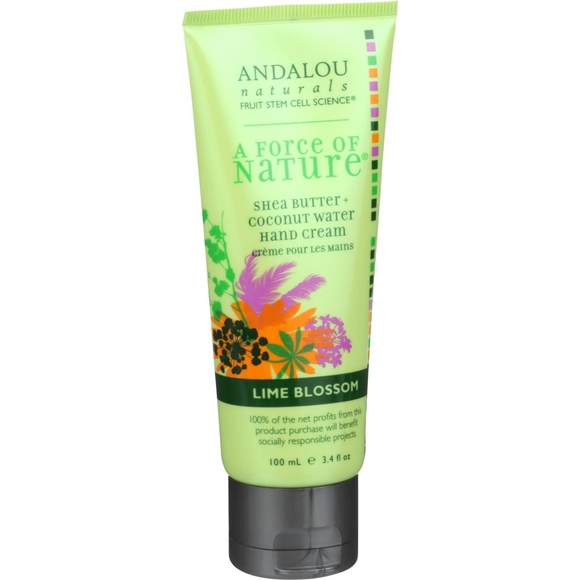 Picture of Andalou Naturals Hand Cream - A Force of Nature Shea Butter plus Coconut Water - Lime Blossom - 3.4 oz