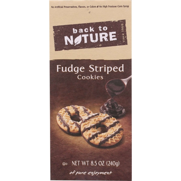 Picture of 6 Pack Back To Nature Cookies - Fudge Striped Shortbread - 8.5 oz