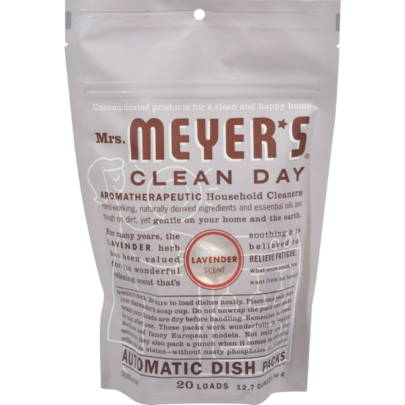 Picture of Case of 6 - Mrs. Meyer's Automatic Dishwasher Packs - Lavender - 12.7 oz